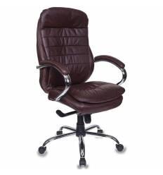Кресло Бюрократ T-9950AXSN/CHOCOLATE для руководителя, цвет темно-коричневый