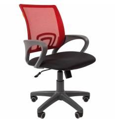 Кресло CHAIRMAN 696 GREY/RED для оператора, серый пластик, сетка/ткань, цвет красный/черный