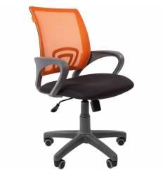 Кресло CHAIRMAN 696 GREY/ORANGE для оператора, серый пластик, сетка/ткань, цвет оранжевый/черный