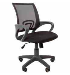 Кресло CHAIRMAN 696 GREY/GREY для оператора, серый пластик, сетка/ткань, цвет серый/черный