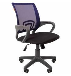 Кресло CHAIRMAN 696 GREY/BLUE для оператора, серый пластик, сетка/ткань, цвет синий/черный