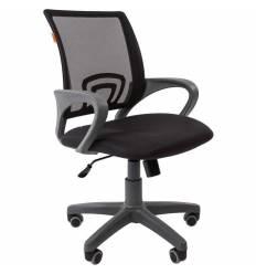 Кресло CHAIRMAN 696 GREY/BLACK для оператора, серый пластик, сетка/ткань, цвет черный