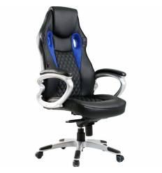 Кресло Good-Kresla Kent Black для руководителя, цвет черный/синий