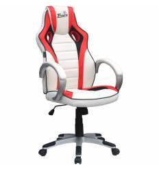 Кресло Trident GK-0202 White and Red для руководителя, экокожа, цвет белый/красный