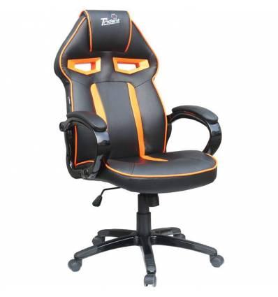 Кресло Trident GK-0303 Orange and Black для руководителя, экокожа, цвет черный/оранжевый