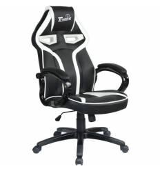Кресло Trident GK-0303 White and Black для руководителя, экокожа, цвет черный/белый