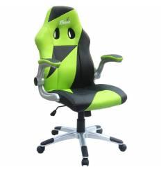 Кресло Trident GK-0505 Green and Black для руководителя, экокожа, цвет зеленый/черный