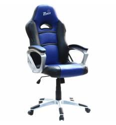 Кресло Trident GK-0707 Blue and Black для руководителя, экокожа, цвет черный/синий