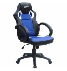 Кресло Trident GK-0808 Black and Blue для руководителя, экокожа/ткань, цвет черный/синий