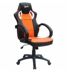 Кресло Trident GK-0808 Black and Orange для руководителя, экокожа/ткань, цвет черный/оранжевый