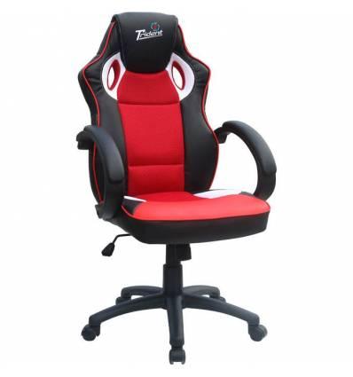 Кресло Trident GK-0808 Black and Red для руководителя, экокожа/ткань, цвет черный/красный