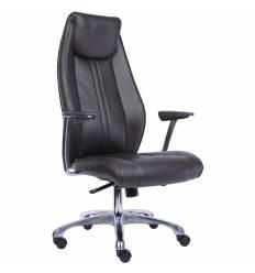 Кресло EVERPROF Lyon PU Dark-Brown для руководителя, экокожа, цвет коричневый