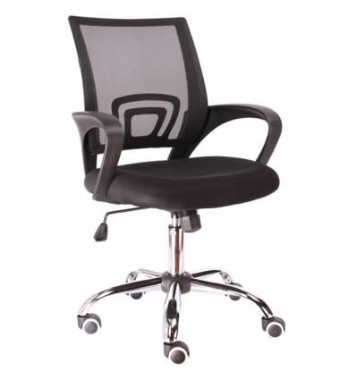 Кресло EVERPROF EP-696 Mesh Black для оператора, сетка/ткань, цвет черный