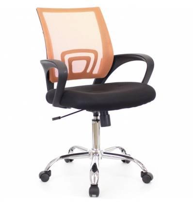 Кресло EVERPROF EP-696 Mesh Orange для оператора, сетка/ткань, цвет оранжевый/черный