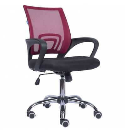 Кресло EVERPROF EP-696 Mesh Red для оператора, сетка/ткань, цвет бордовый/черный
