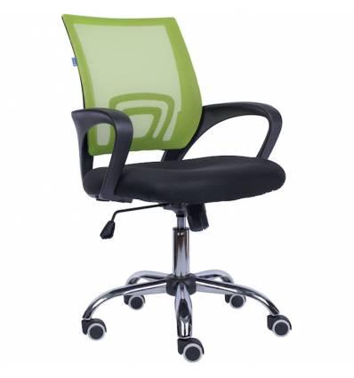 Кресло EVERPROF EP-696 Mesh Green для оператора, сетка/ткань, цвет зеленый/черный