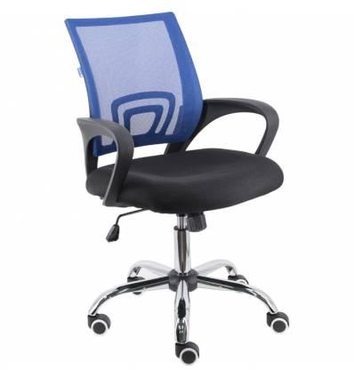 Кресло EVERPROF EP-696 Mesh Blue для оператора, сетка/ткань, цвет синий/черный