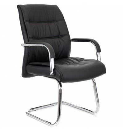 Кресло EVERPROF BOND CF PU Black для посетителя, экокожа, цвет черный