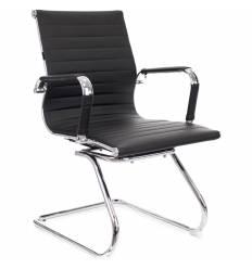 Кресло EVERPROF LEO CF PU Black для посетителя, экокожа, цвет черный