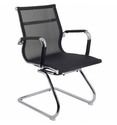 Кресло EVERPROF OPERA CF Mesh Black для посетителя, сетка, цвет черный