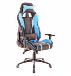 Кресло EVERPROF Lotus S16 PU Blue игровое, экокожа, цвет голубой/черный