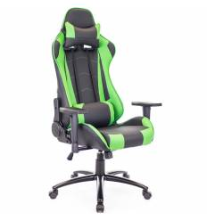 Кресло EVERPROF Lotus S9 PU Green игровое, экокожа, цвет зеленый/черный