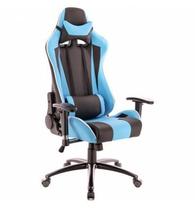 Кресло EVERPROF Lotus S5 PU Blue игровое, экокожа, цвет голубой/черный