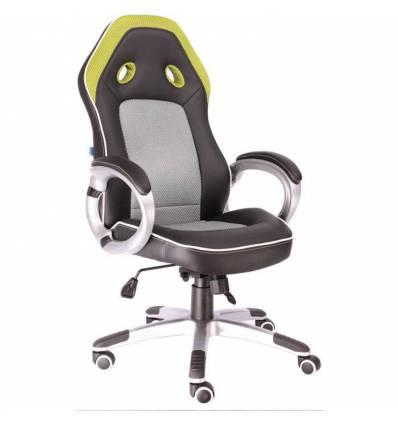 Кресло EVERPROF DRIVE PU Green игровое, экокожа/ткань, цвет черный/зеленый