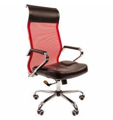 Кресло CHAIRMAN 700/RED сетка для руководителя, сетка/экокожа, цвет красный/черный