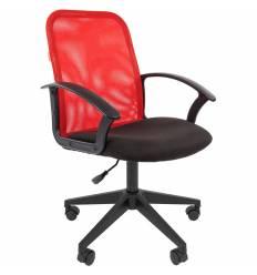 Кресло CHAIRMAN 615/RED для оператора, сетка/ткань, цвет красный/черный