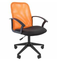 Кресло CHAIRMAN 615/ORANGE для оператора, сетка/ткань, цвет оранжевый/черный