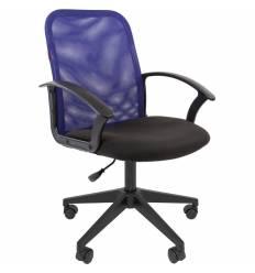 Кресло CHAIRMAN 615/BLUE для оператора, сетка/ткань, цвет синий/черный