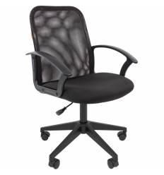 Кресло CHAIRMAN 615/BLACK для оператора, сетка/ткань, цвет черный