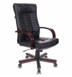 Кресло Бюрократ KB-10/WALNUT (Атлант) для руководителя, экокожа/дерево, цвет черный