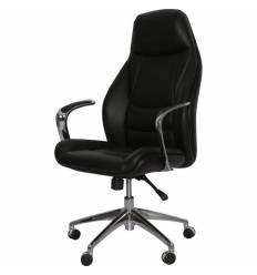 Кресло Officio Омега ОМ-01 для руководителя, экокожа, цвет черный