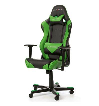 Кресло DXRacer OH/RE0/NE Racing Series, компьютерное, цвет черный/зеленый