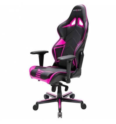 Кресло DXRacer OH/RV131/NP Racing Series, компьютерное, цвет черный/розовый