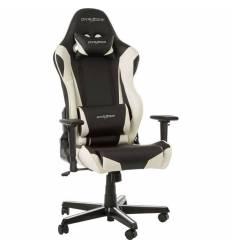 Кресло DXRacer OH/RZ0/NW Racing Series, компьютерное, экокожа, цвет черный/белый