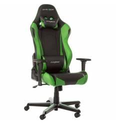 Кресло DXRacer OH/RZ0/NE Racing Series, компьютерное, экокожа, цвет черный/зеленый