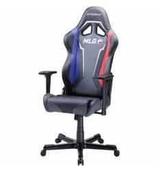 Кресло DXRacer OH/RZ112/MLG Racing Series, компьютерное, экокожа, цвет черный в стиле MLG