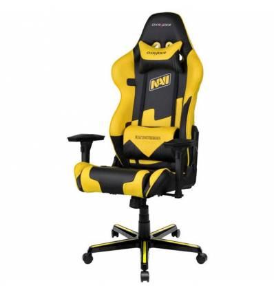 Кресло DXRacer OH/RZ21/NY/NAVI Racing Series, компьютерное, экокожа, цвет черный/желтый
