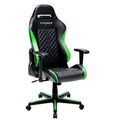Кресло DXRacer OH/DH73/NE Drifting Series, компьютерное, экокожа, цвет черный/зеленый