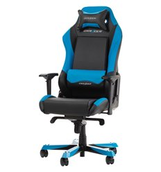 Кресло DXRacer OH/IS11/NB Iron Series, компьютерное, экокожа, цвет черный/синий