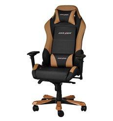 Кресло DXRacer OH/IS11/NC Iron Series, компьютерное, экокожа, цвет черный/коричневый