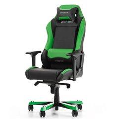 Кресло DXRacer OH/IS11/NE Iron Series, компьютерное, экокожа, цвет черный/зеленый