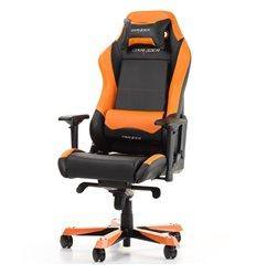 Кресло DXRacer OH/IS11/NO Iron Series, компьютерное, экокожа, цвет черный/оранжевый