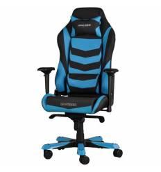 Кресло DXRacer OH/IS166/NB Iron Series, компьютерное, экокожа, цвет черный/синий