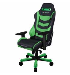 Кресло DXRacer OH/IS166/NE Iron Series, компьютерное, экокожа, цвет черный/зеленый