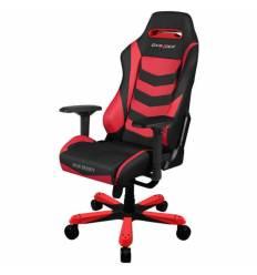 Кресло DXRacer OH/IS166/NR Iron Series, компьютерное, экокожа, цвет черный/красный