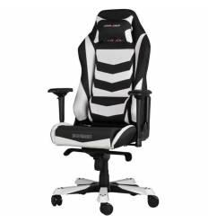 Кресло DXRacer OH/IS166/NW Iron Series, компьютерное, экокожа, цвет черный/белый